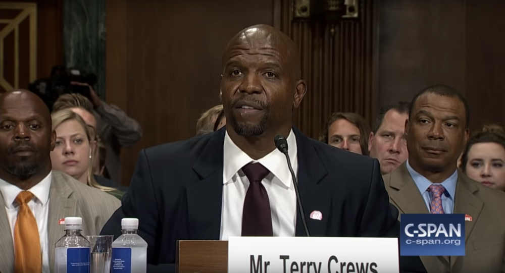 "Terry Crews testified before the Senate Judiciary Committee, calling out the ""cult of toxic masculinity"""