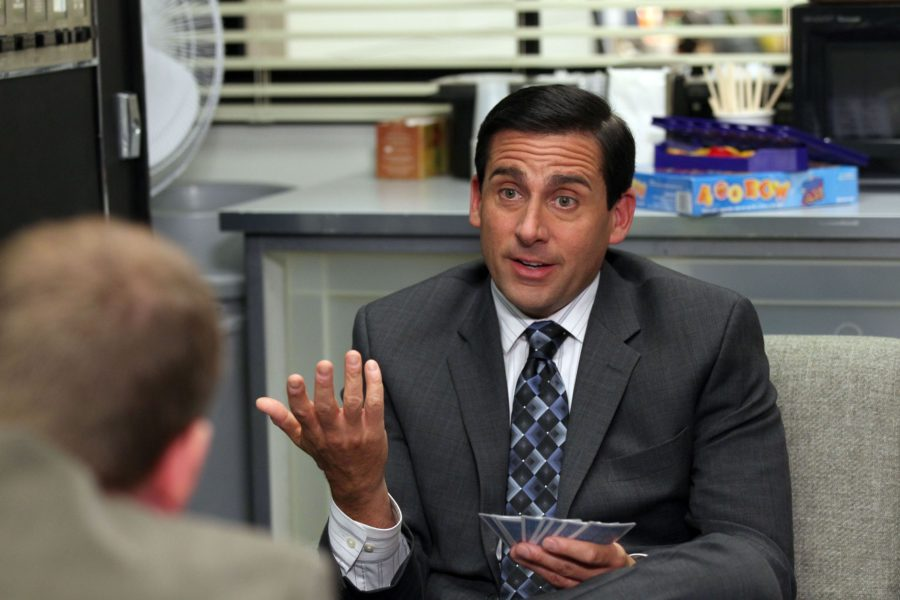 Ed Helms said it took 30 takes to film this scene from <em>The Office</em> because Steve Carell was too hilarious