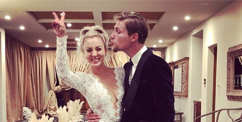 Kaley Cuoco is officially married, and the photos are magical