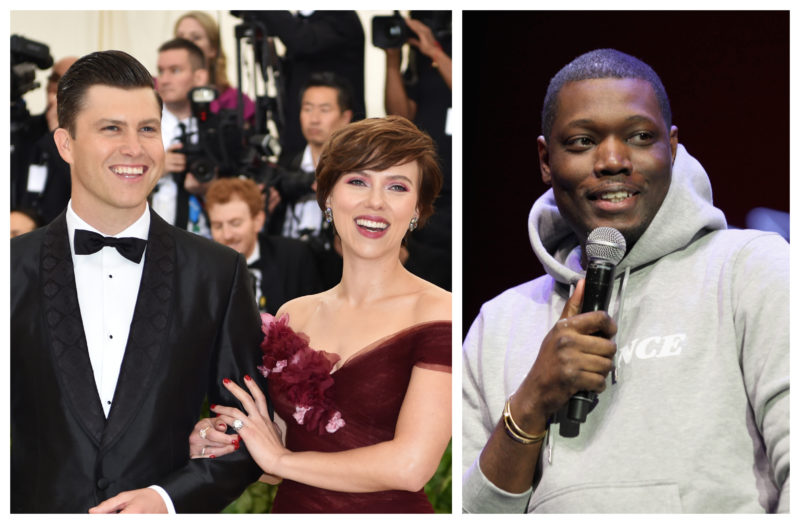 "Scarlett Johansson and Colin Jost got pranked so hard by ""SNL"" castmate Michael Che"