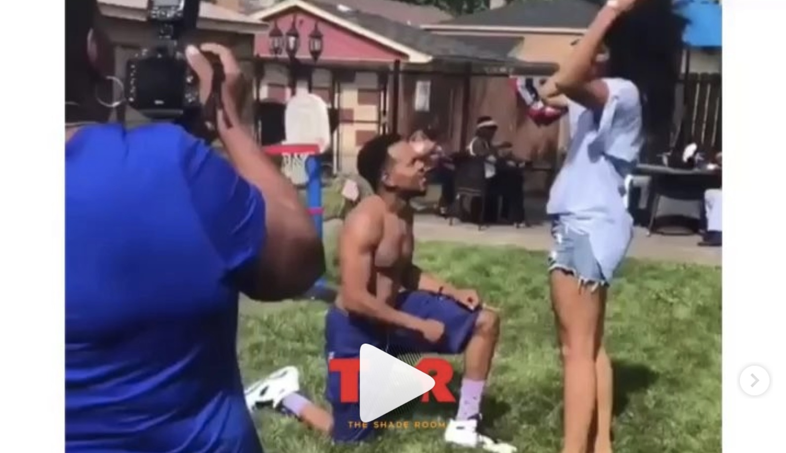 Chance the Rapper got engaged at a July 4th party — and it was all caught on camera