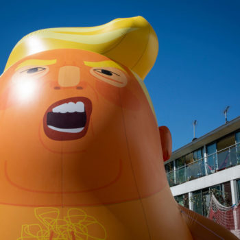 A giant Trump Baby balloon flew over London, and the photos are epic