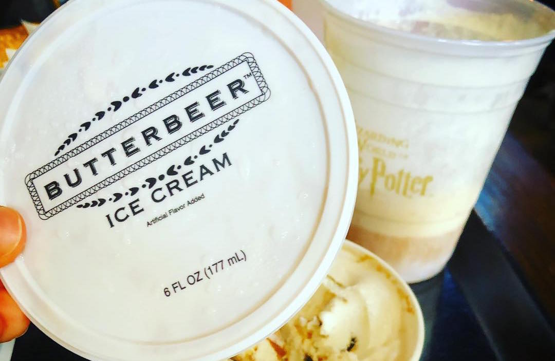 Hard-packed Butterbeer ice cream is now a thing, and it's perfect for 100-degree days