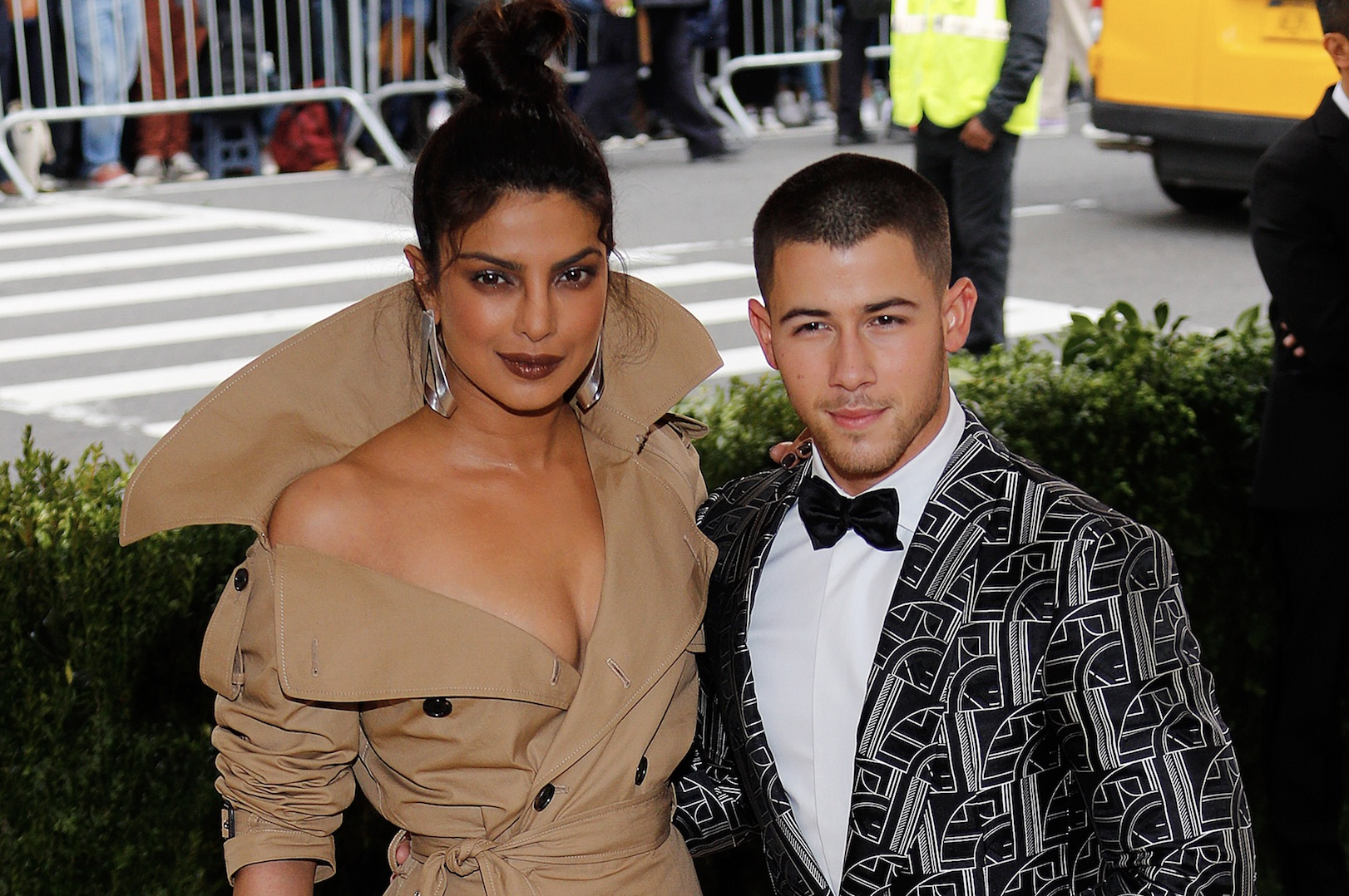Nick Jonas and Priyanka Chopra are wearing matching gold rings, and we have questions