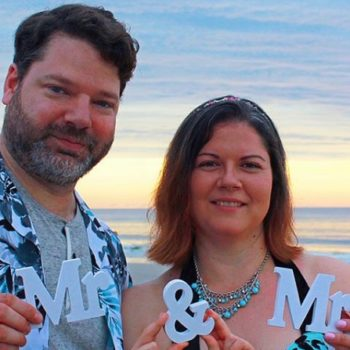 William and Shannan from <em>Queer Eye</em> are married, and Tan would approve of their printed wedding shirts