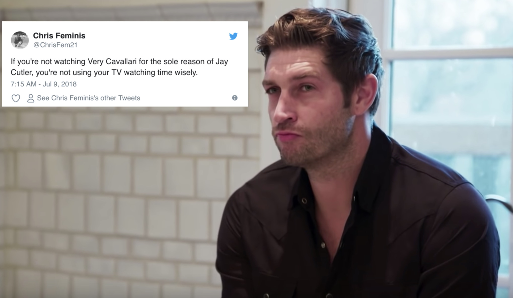 Twitter is officially obsessed with Jay Cutler after the <em>Very Cavallari</em> premiere