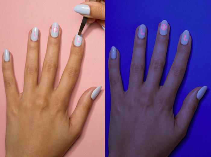 These glow-in-the-dark nail stickers let you send secret messages with your mani
