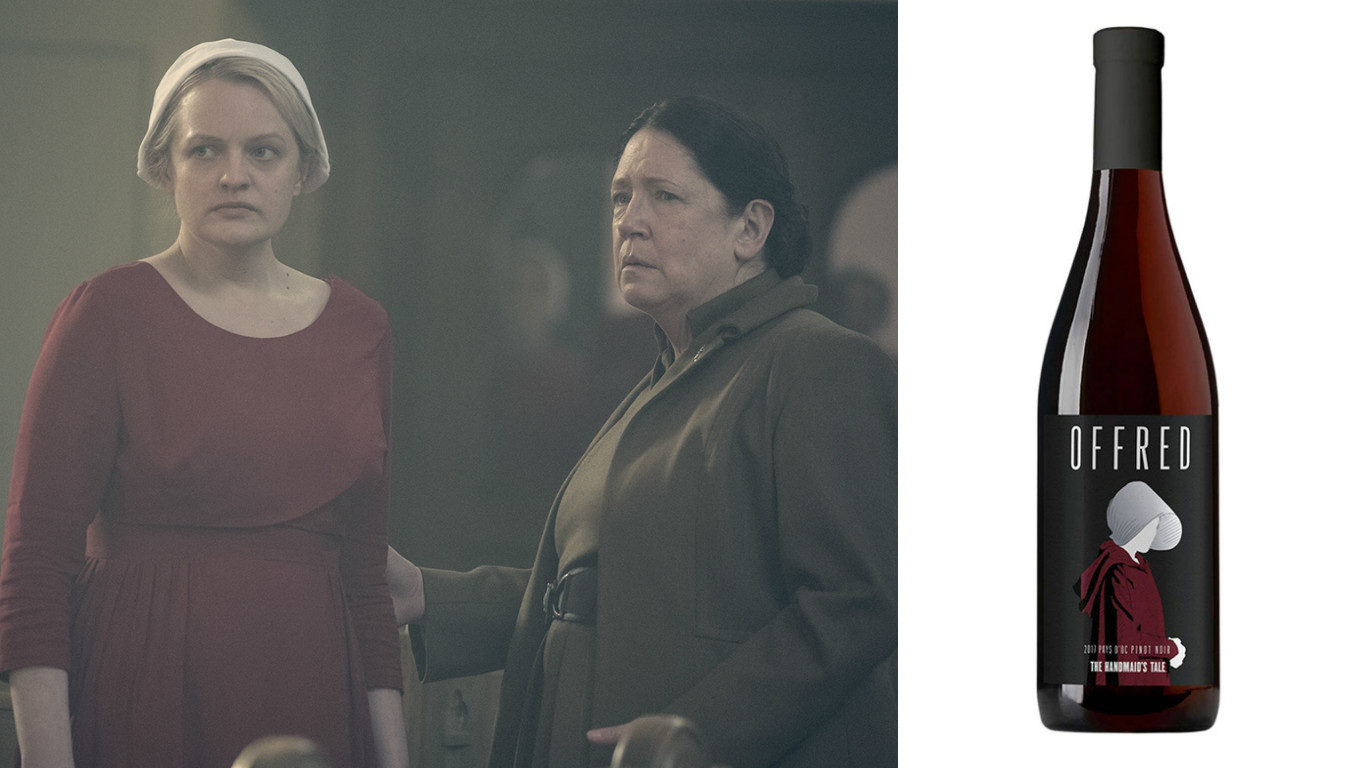 <em>The Handmaid's Tale</em> is releasing a line of wines so we can drink our Gilead worries away
