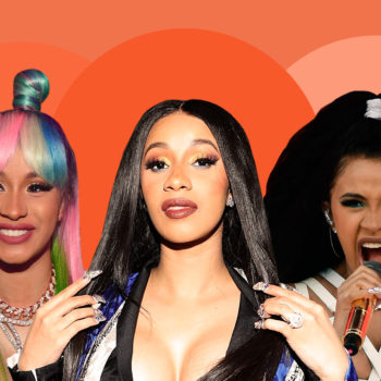 Cardi B's legendary hair moments, from vintage-inspired updos to fiery red ponytails