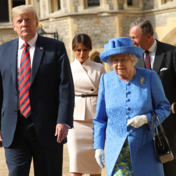 The internet is obsessed with the way Queen Elizabeth greeted Trump vs. Obama