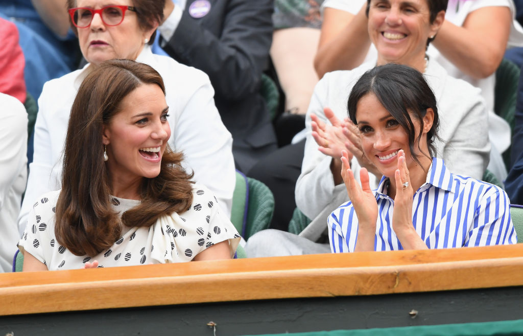 Meghan Markle and Kate Middleton looked SO chic during their first solo outing together at Wimbledon