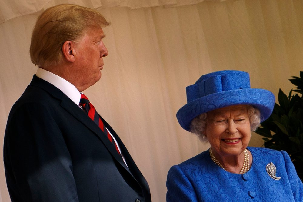 People think Queen Elizabeth sent a secret message with her brooch during Trump's visit