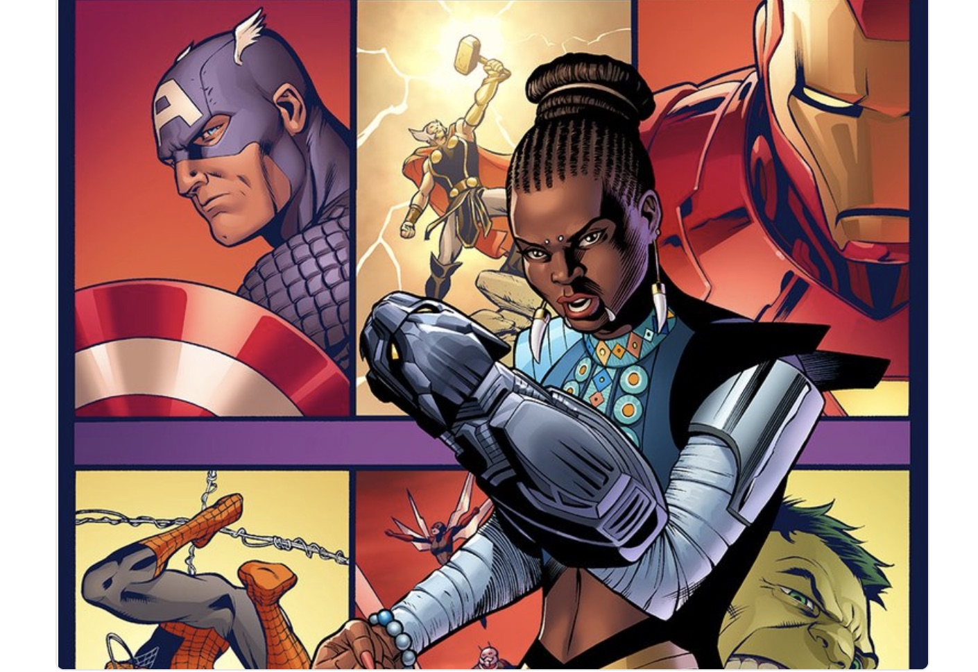 Shuri, aka Black Panther's sister, is getting her own comic book series, and yas princess!