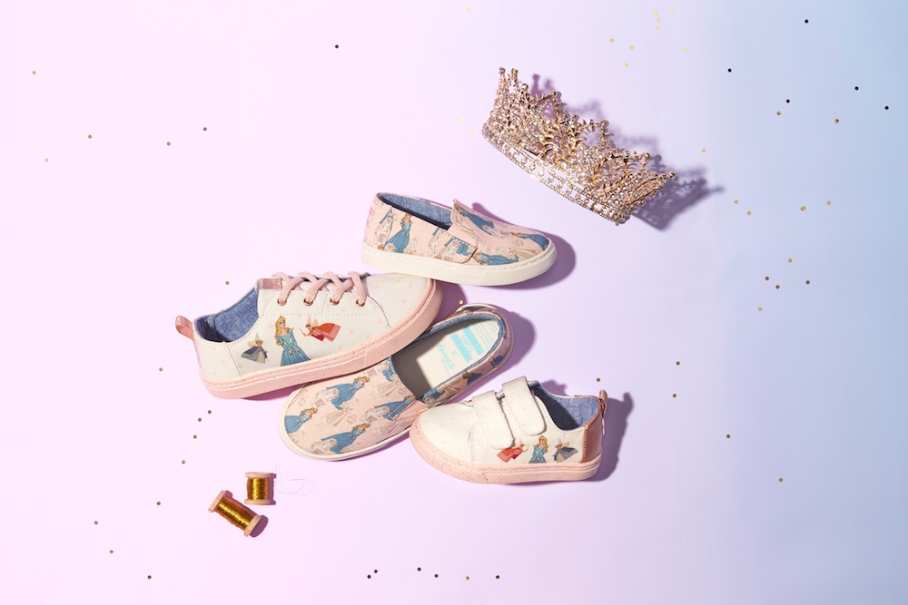 ddd6a4792fc Head on over to Toms and check out the Disney x Toms Sleeping Beauty  Collection.