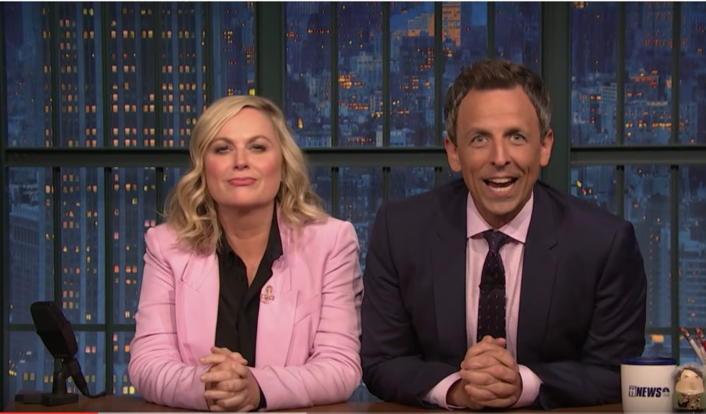 "Amy Poehler and Seth Meyers brought back ""Really!?!"" on <em>Late Night</em>, and we needed this"