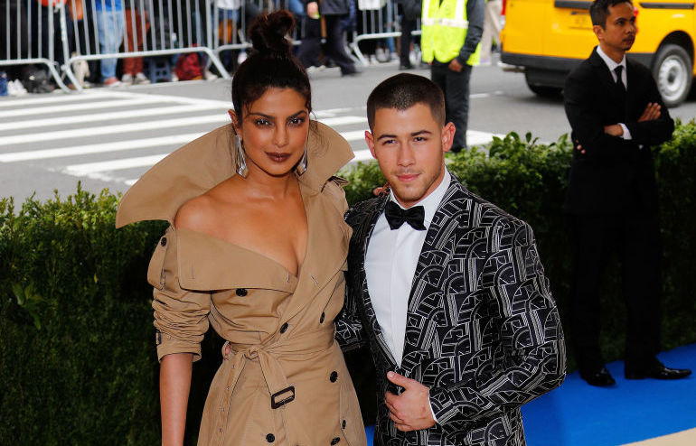Priyanka Chopra and Nick Jonas paid a secret visit to Prince Harry and Meghan Markle the same week they reportedly got engaged