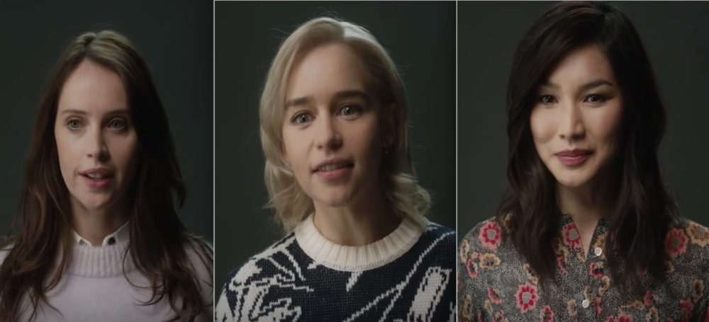 Emilia Clarke, Felicity Jones, Lena Headey, and others play themselves in this short about Hollywood sexism