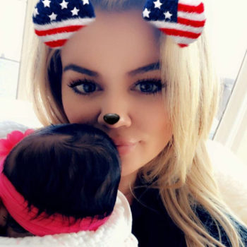 """Khloé Kardashian got real about mommy-shamers who criticize her time away from True: """"Do you think I'm leaving my child alone?"""""""