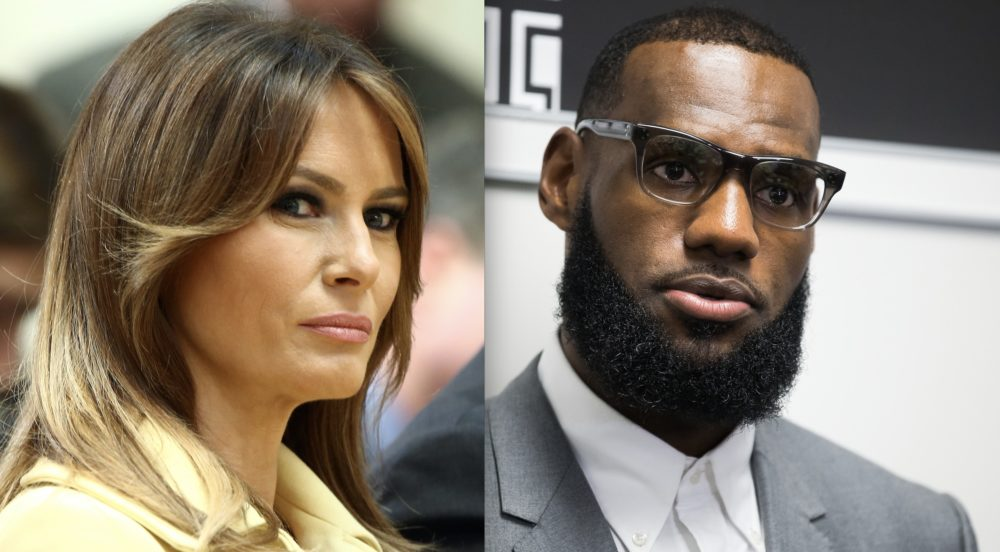 Melania Trump backed LeBron James after he criticized Donald Trump