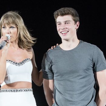 Taylor Swift gave Shawn Mendes a glittery backstage makeover, and yes, there's video