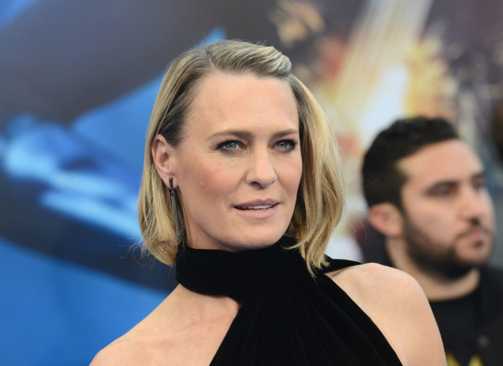 Robin Wright got married, and her low-key wedding dress is a bohemian dream