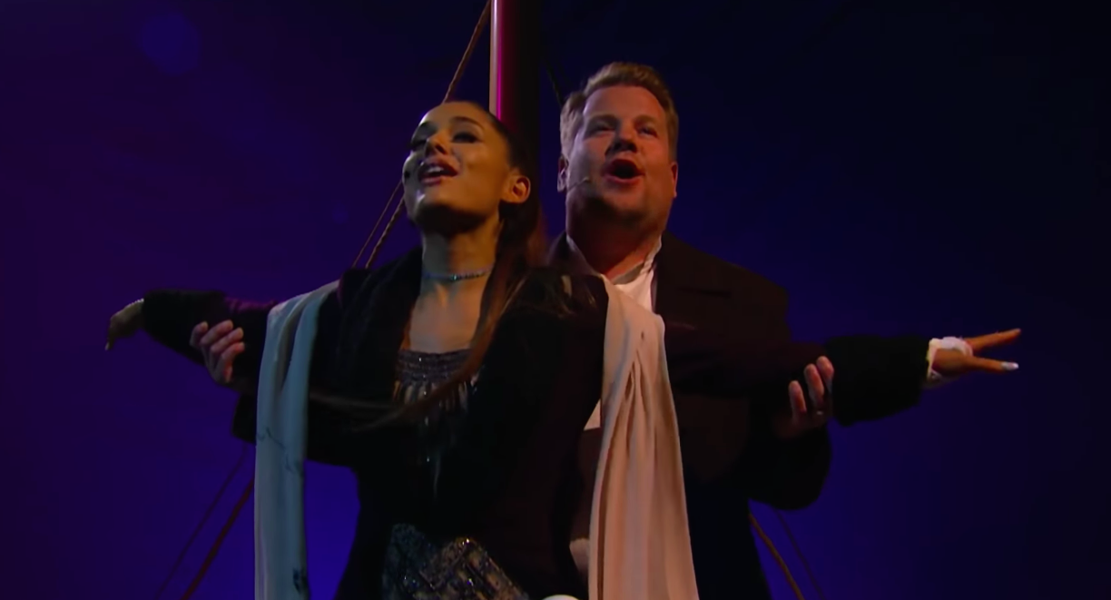 "Ariana Grande and James Corden performed a ""Titanic"" musical, and we're never letting go of this"