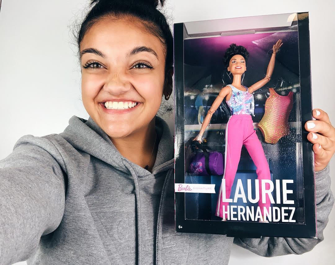 Olympic gymnast Laurie Hernandez now has her very own Barbie, and we asked her what it means for girls everywhere