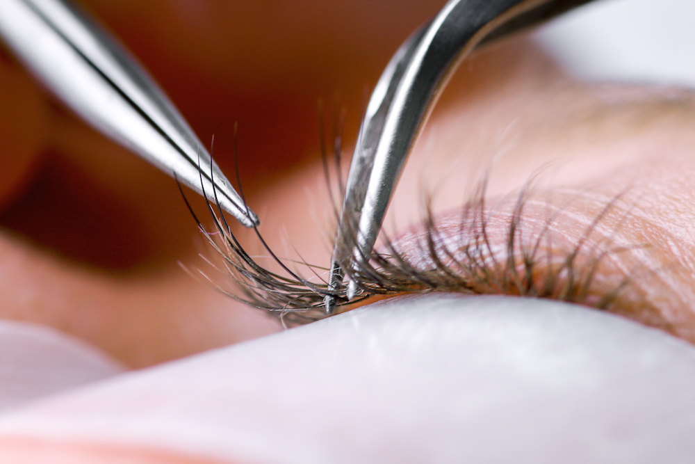 A woman's eyes were sealed shut after a salon used superglue for her lash extensions