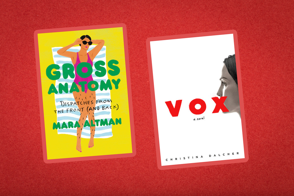 Books coming out this week: <em>Vox</em>, <em>Gross Anatomy</em>, and more