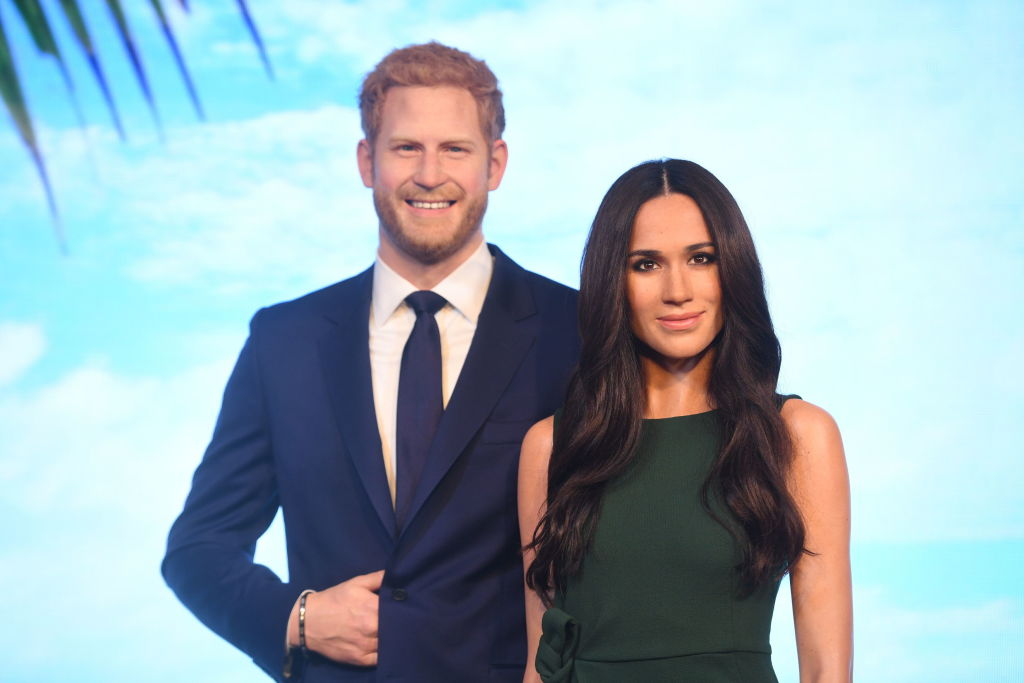 Prince Harry and Meghan Markle's wax figures took a walk around London, and the pictures will give you nightmares