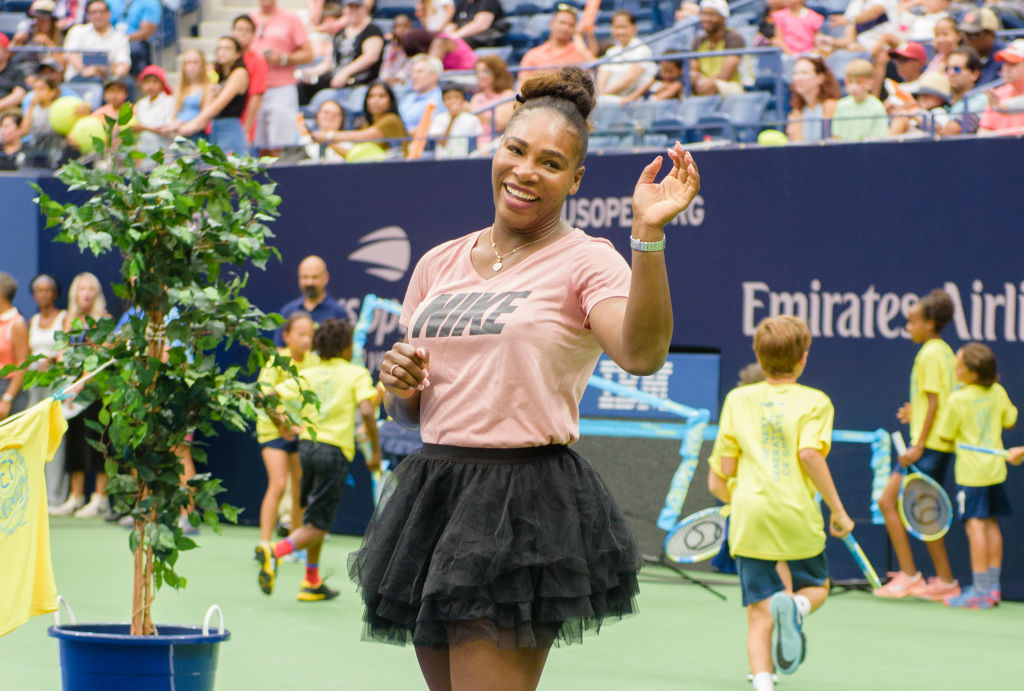 This footage of Serena Williams playing tennis with her childhood self will make you weep
