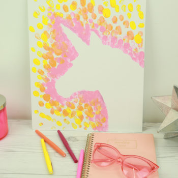 This DIY finger painting is so sophisticated, your friends will think you majored in art