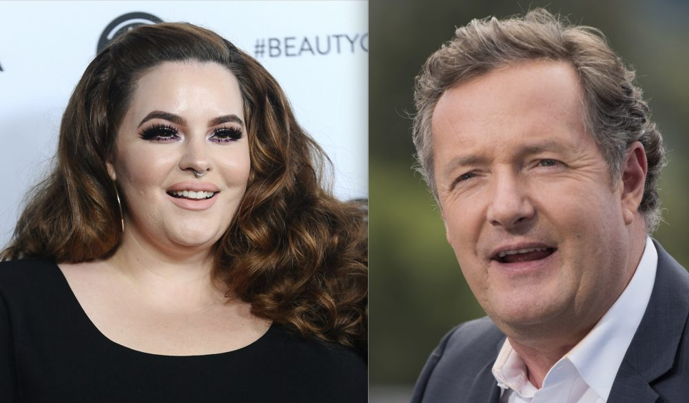 Body-positive model Tess Holliday clapped back at Piers Morgan after he insulted her Cosmo cover