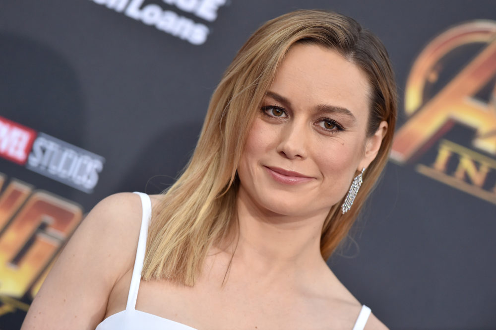 The first photos of Brie Larson wearing the iconic Captain Marvel suit are here, and she looks fierce