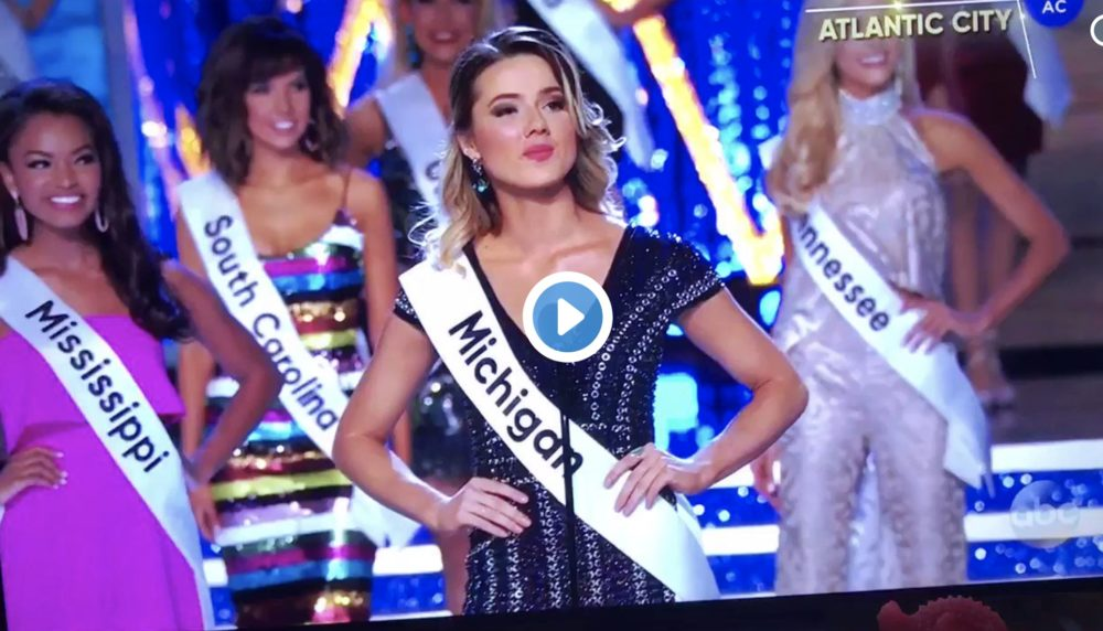 Everyone's talking about Miss Michigan's badass intro during last night's Miss America competition