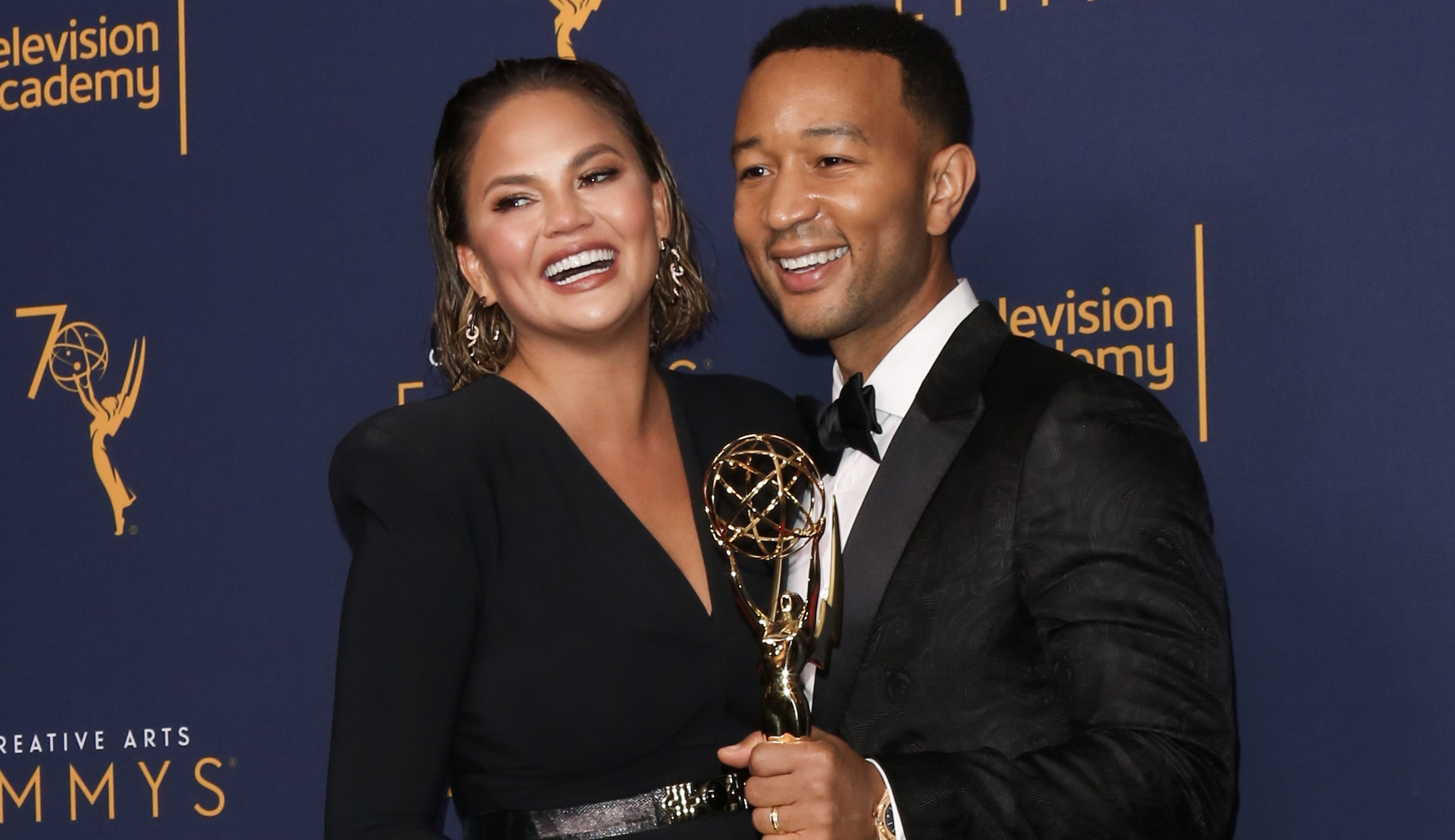 John Legend became the first black man to win an EGOT, and Chrissy Teigen's Insta post about it will make you cry