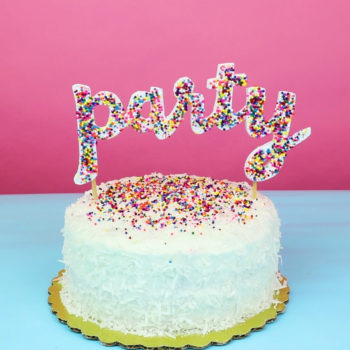These DIY sprinkle letters are the perfect affordable gift for any celebration