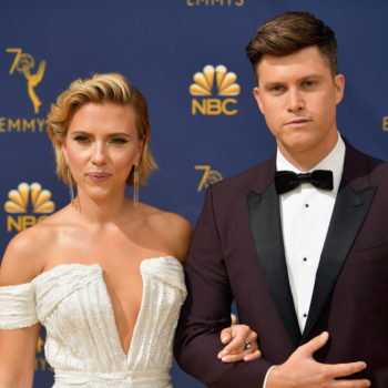 Scarlett Johansson walked the 2018 Emmys red carpet with BF Colin Jost, and they were GOALS