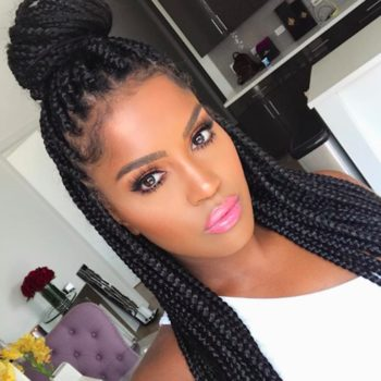 16 different ways to style your box braids, from triangular parts to double buns and more