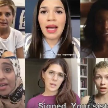 America Ferrera, Amber Tamblyn, and so many other celebrities are standing with Christine Blasey Ford in this new video