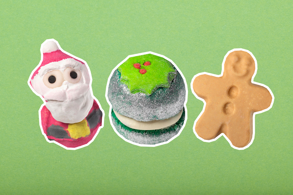 Lush's holiday collection is here, and it features a cola-scented Santa Claus bath bomb