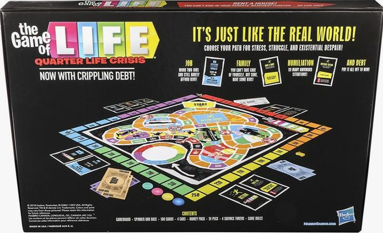Hasbro made a Game of Life: Quarter Life Crisis edition, and millennials will definitely relate