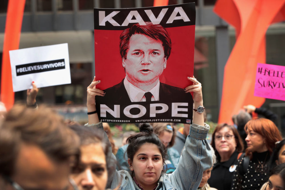 The most powerful images of people protesting the Kavanaugh vote around the U.S. today