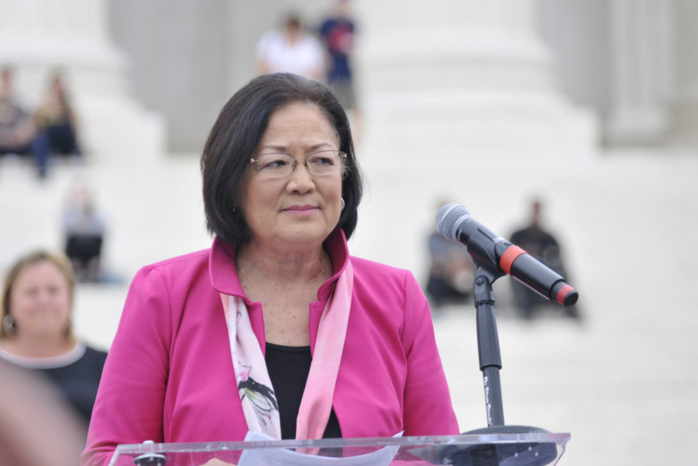 Conservatives keep saying they believe Kavanaugh AND Ford, and Senator Mazie Hirono called out why that's BS