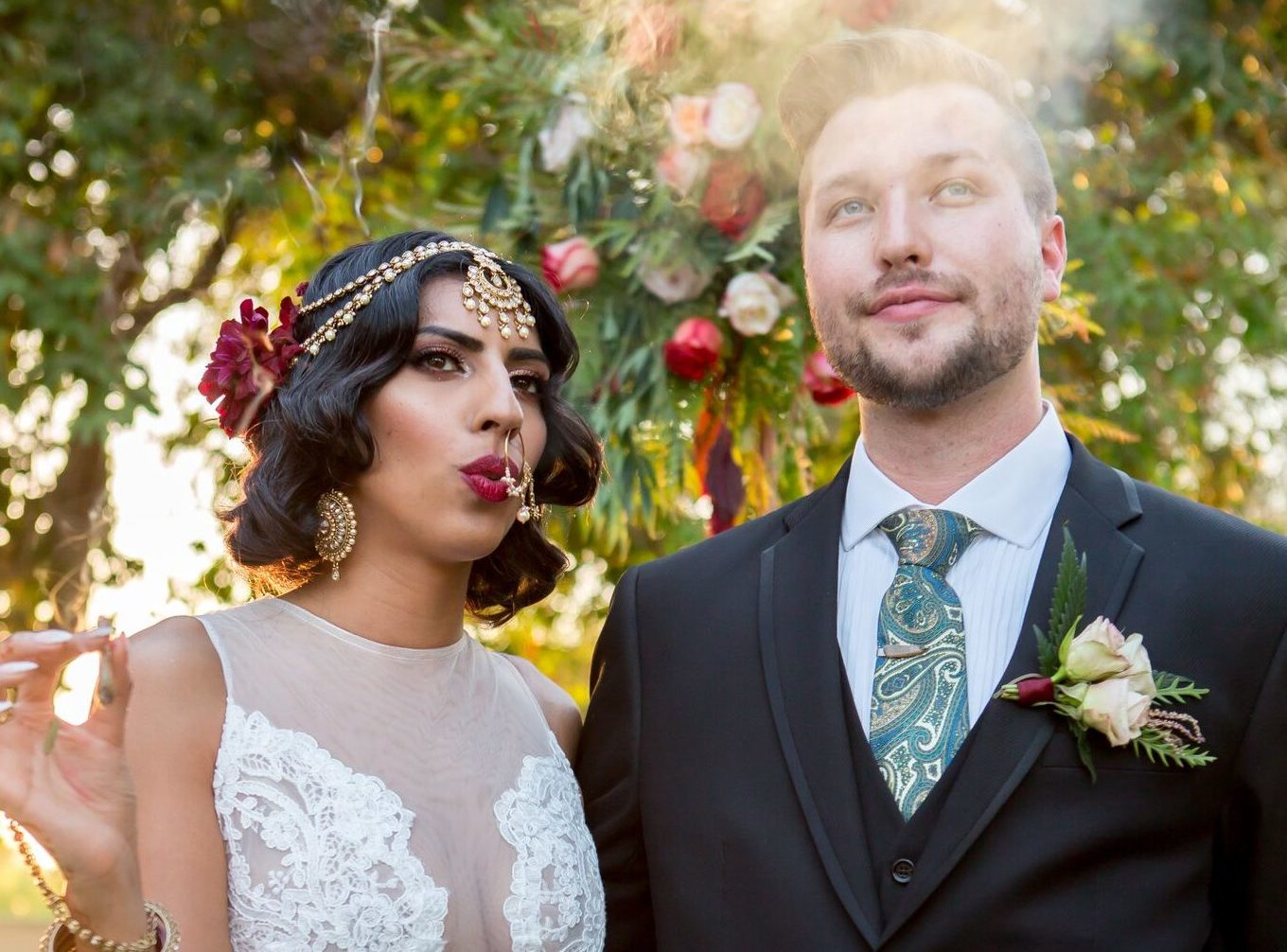 This California couple gave us an inside look at their weed-themed wedding