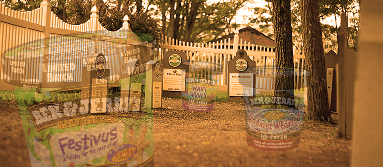 You can tour an actual graveyard of discontinued Ben & Jerry's ice cream flavors