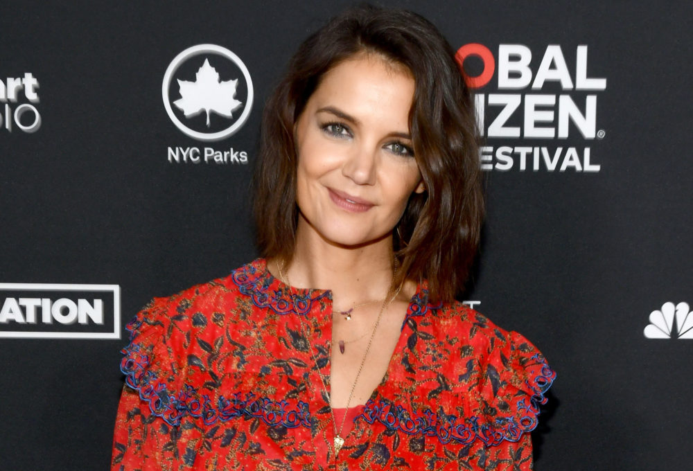 "Katie Holmes just rocked the ""lampshade"" trend like Ariana Grande—see the look"