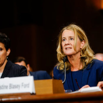 A quote from Christine Blasey Ford's Senate testimony was spray-painted outside of Brett Kavanaugh's alma mater