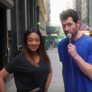 """Billy Eichner and Tiffany Haddish hit the streets to cast a """"woke"""" <em>Hocus Pocus</em> trio of witches, and bless"""