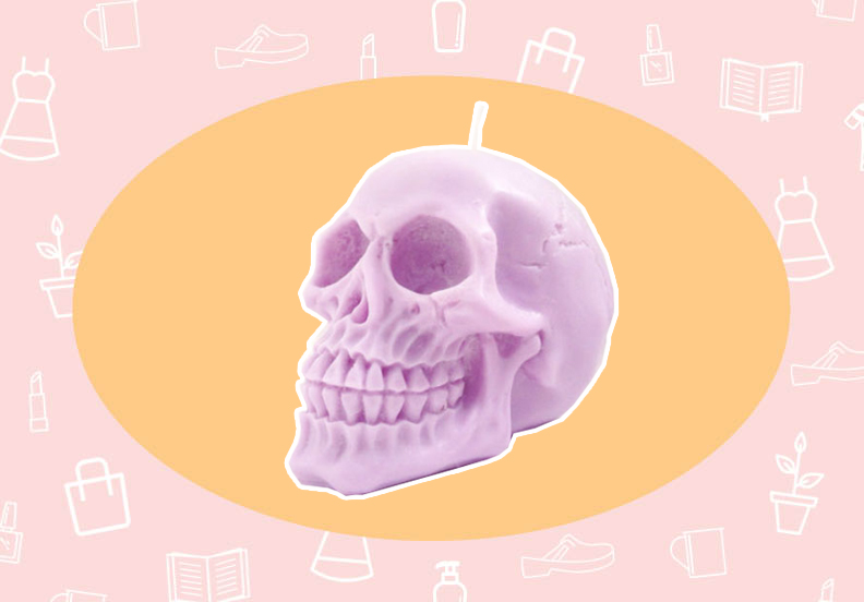 WANT/NEED: A pastel skull candle to make your Halloween extra cute, and more stuff you want to buy